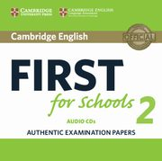 Cambridge English First for Schools 2 2CD,